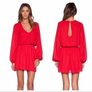 Show me your Mumu red rainier long sleeve dress M